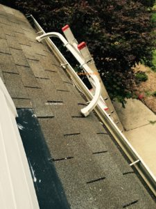 Gutter cleaning tool ladder